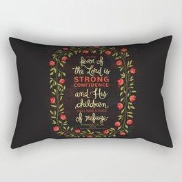 Proverbs 14:26 Rectangular Pillow