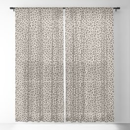 BLACK and WHITE LEOPARD PRINT – Ecru | Collection : Leopard spots – Punk Rock Animal Prints. Sheer Curtain