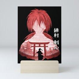 Minimalist Silhouette Kenshin Mini Art Print