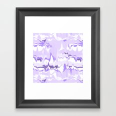 Marbled in orchid Framed Art Print