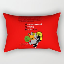 Government Of the Rich Automated All Jobs Rectangular Pillow