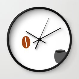 Life Happens Coffee Helps Coffee Lover Gift Wall Clock