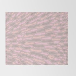 Organic Abstract Cappuccino Neutral Throw Blanket