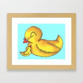 Grandbaby Cuddles (Grandpa) Framed Art Print