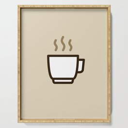 Coffee - Icon Prints: Drinks Series Serving Tray