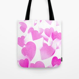 Blended Pink Hearts Tote Bag