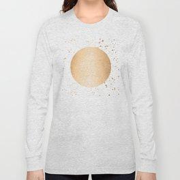 Sun Paint Spatter in Orange Sherbet Shimmer Long Sleeve T-shirt