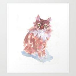 Ginger Peach Art Print