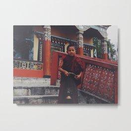 Little monk man  Metal Print