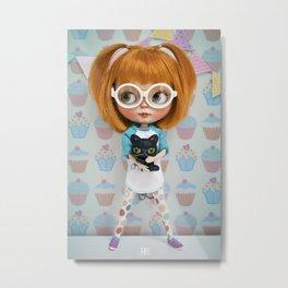 Erregiro Blythe Custom Doll Carmencita & Sócrates Metal Print
