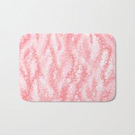 Pastel Strawberry Pink Lacey Icing Bath Mat