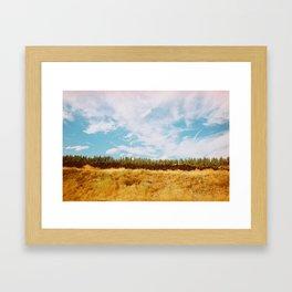 BRIGHT TREES Framed Art Print