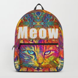 Neon Rainbow Cat Backpack