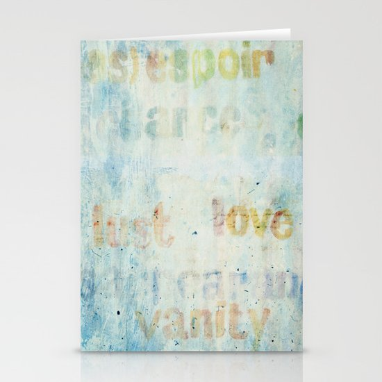 words Stationery Cards