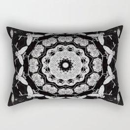 Dark Moth Mandala Rectangular Pillow