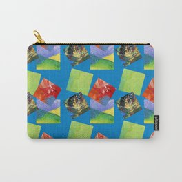Painted Squares Jiggle - Blue Carry-All Pouch