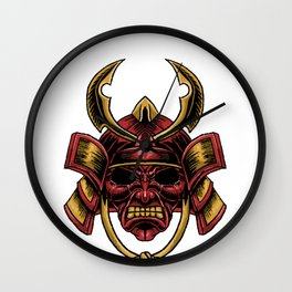 Oni Mask Japanese  Japan East Asia Kanji Art Gift  Wall Clock