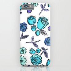 Blue Velvet Roses iPhone 6s Slim Case