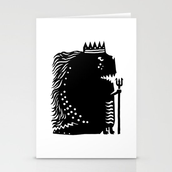 Black king Stationery Cards