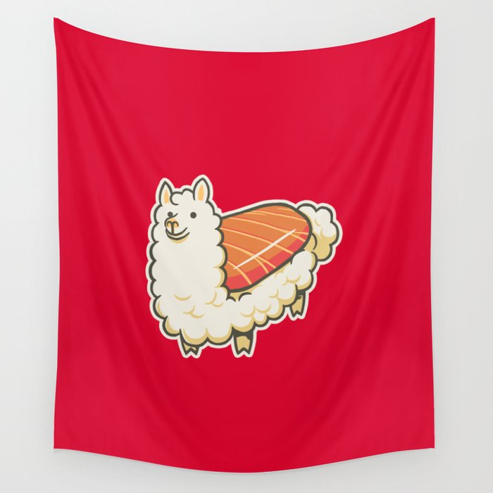 Alpaca Sushi Niguiri II Wall Tapestry
