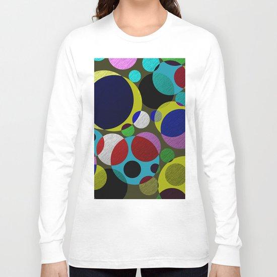 Bubbles - Fun, geometric, colourful design Long Sleeve T-shirt