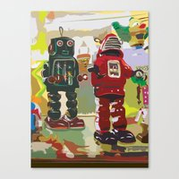 robots Canvas Prints featuring Robots by Five Ate Five Studios