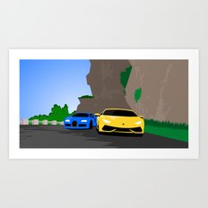 Lamborghini & Bugatti Art Print