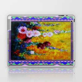 Hollyhock Painting in a Western Style Art Design Laptop & iPad Skin