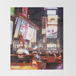 Manhatten New York Throw Blanket