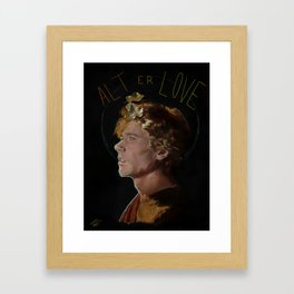 The Boy Who Couldn't Hold His Breath Underwater Framed Art Print