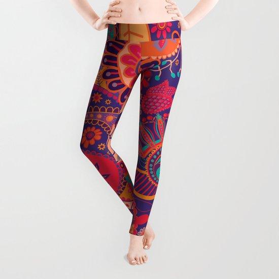 Shabby flowers #24 Leggings