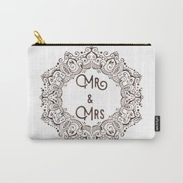 Mr & Mrs Lace - Brown Carry-All Pouch