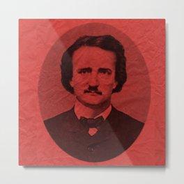 Edgar Alan Poe Line Metal Print