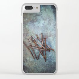a bunch of nails Clear iPhone Case