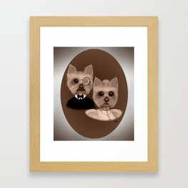 """""""Lord Biscuit and Lady Heidi"""" Framed Art Print"""