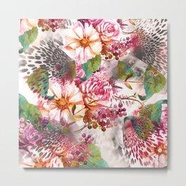 Animal flowers abstract Metal Print