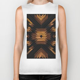 Urban Tribal Pattern No.7 - Aztec - Wood Biker Tank