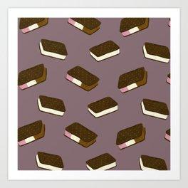 Ice Cream Sandwiches Art Print