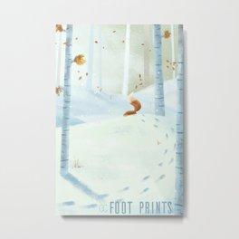 Foot prints Metal Print