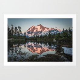Cascade Sunset - Mt. Shuksan Art Print