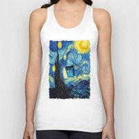 starry night Tank Tops featuring STARRY by MiliarderBrown