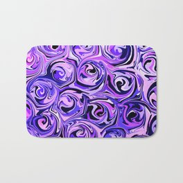 Violet and Lilac Paint Swirls Bath Mat