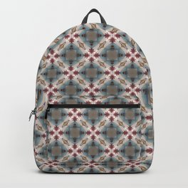 Blue & Red Geometric - Tiny Arrows Leaves Backpack