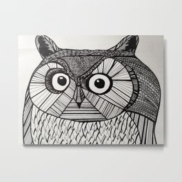 Owl in Pen #2 Metal Print