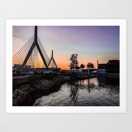 Boston Harbor Sunsets Art Print