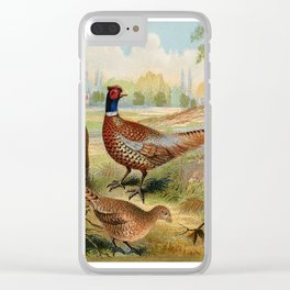 Vintage Pheasants Clear iPhone Case