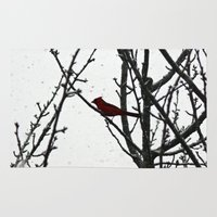 cardinal Area & Throw Rugs featuring Cardinal by Emma Nettles