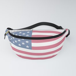 USA American Perfection US Flag Stars and Stripes Fanny Pack