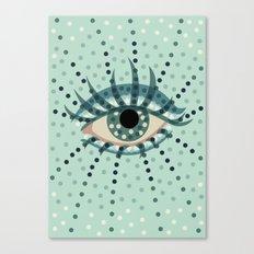 Dots And Abstract Eye Canvas Print