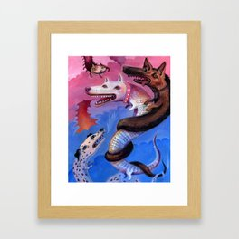 Dragon Play Framed Art Print